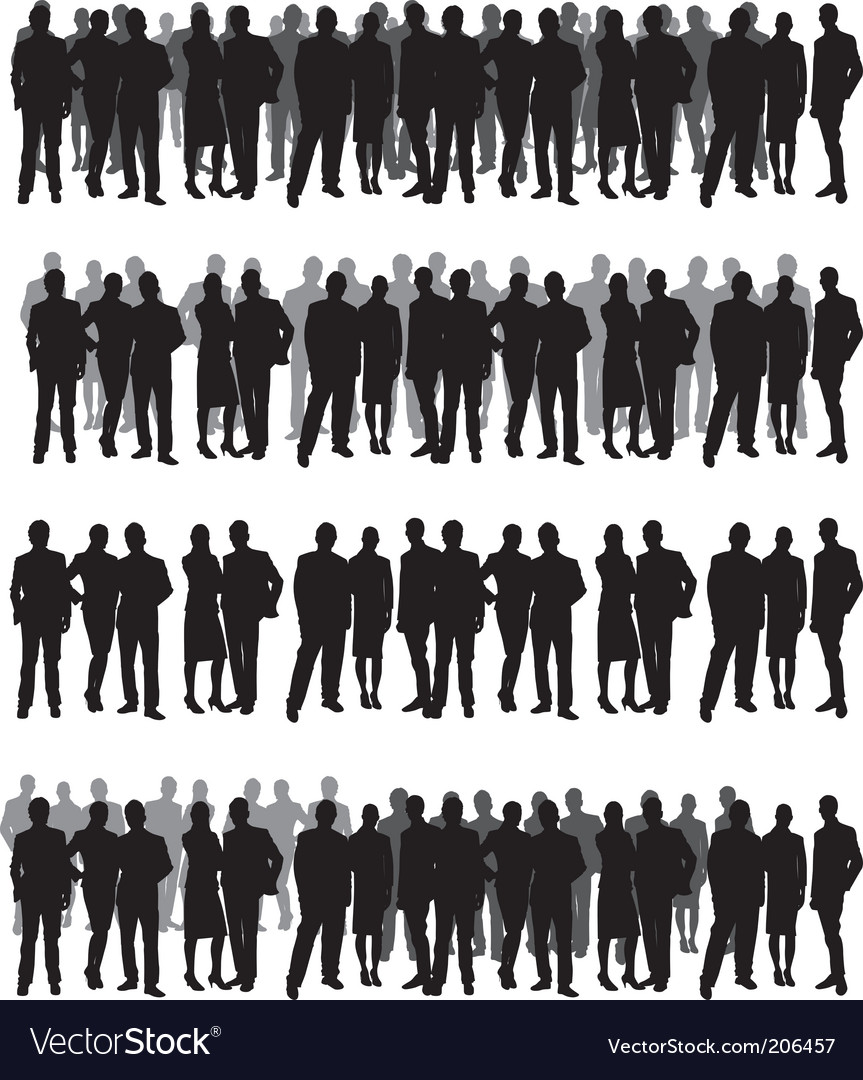 People crowd vector | Price: 1 Credit (USD $1)