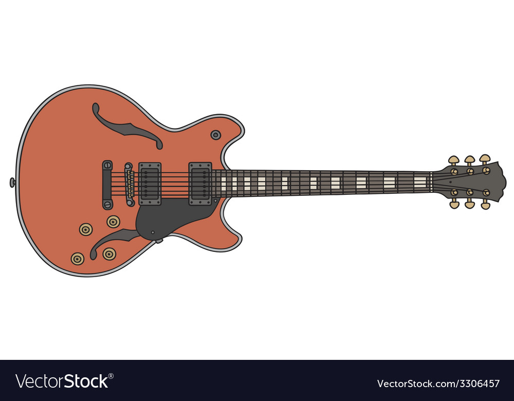 Red electric guitar vector | Price: 1 Credit (USD $1)