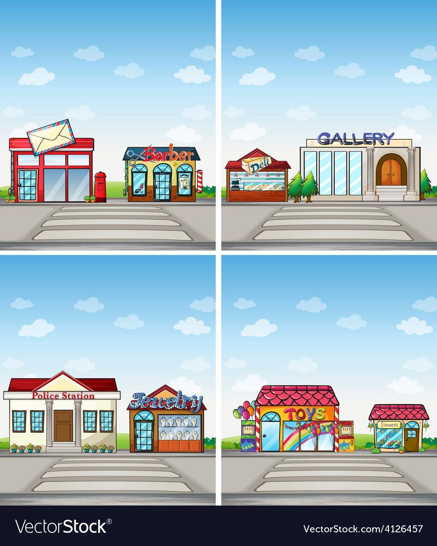 Stores vector | Price: 3 Credit (USD $3)