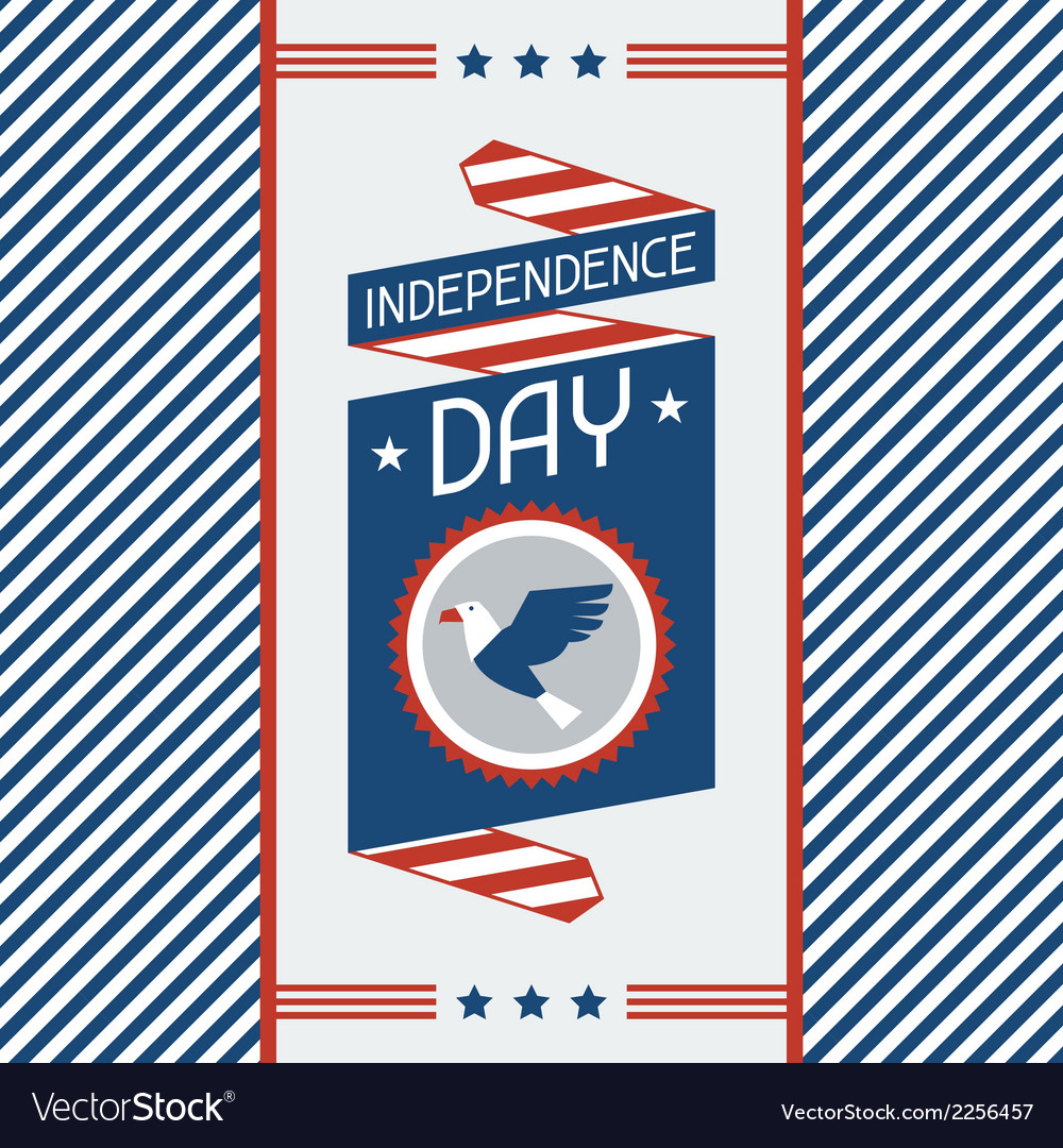United states of america independence day greeting vector   Price: 1 Credit (USD $1)