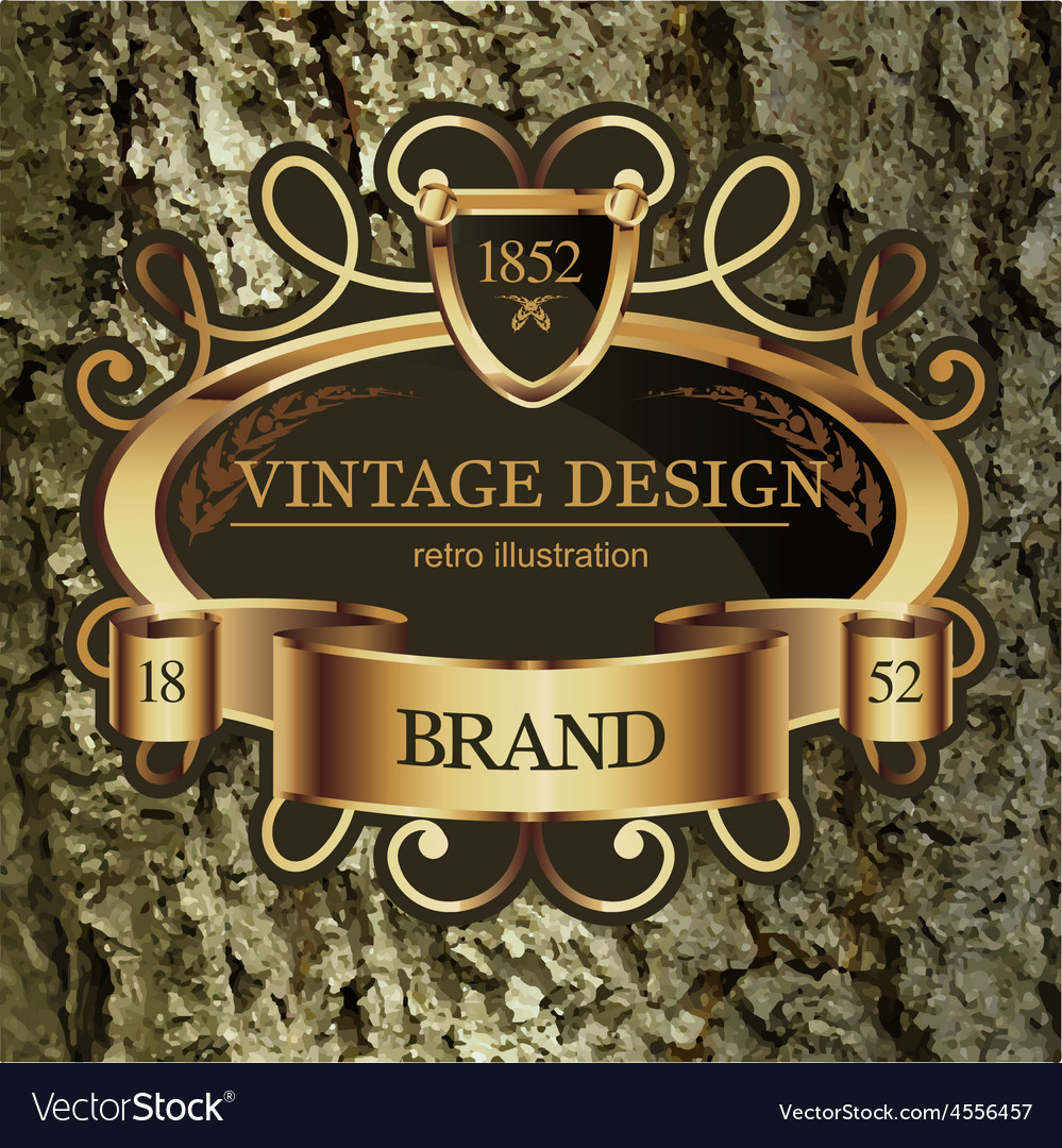 Vintage lable frame for business identity vector | Price: 1 Credit (USD $1)