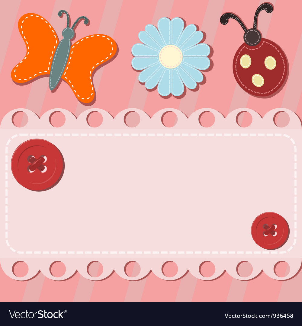 Abstract background with button and sewing vector | Price: 1 Credit (USD $1)