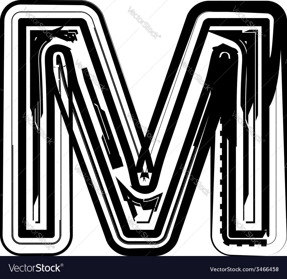 Abstract letter m vector | Price: 1 Credit (USD $1)