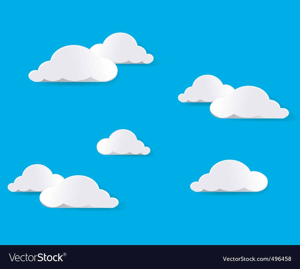 Clouds vector vector | Price: 1 Credit (USD $1)