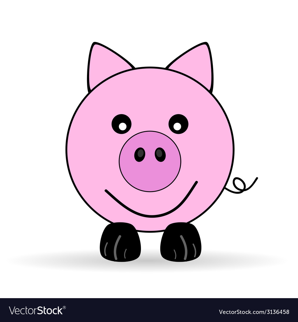 Cute piggy vector | Price: 1 Credit (USD $1)