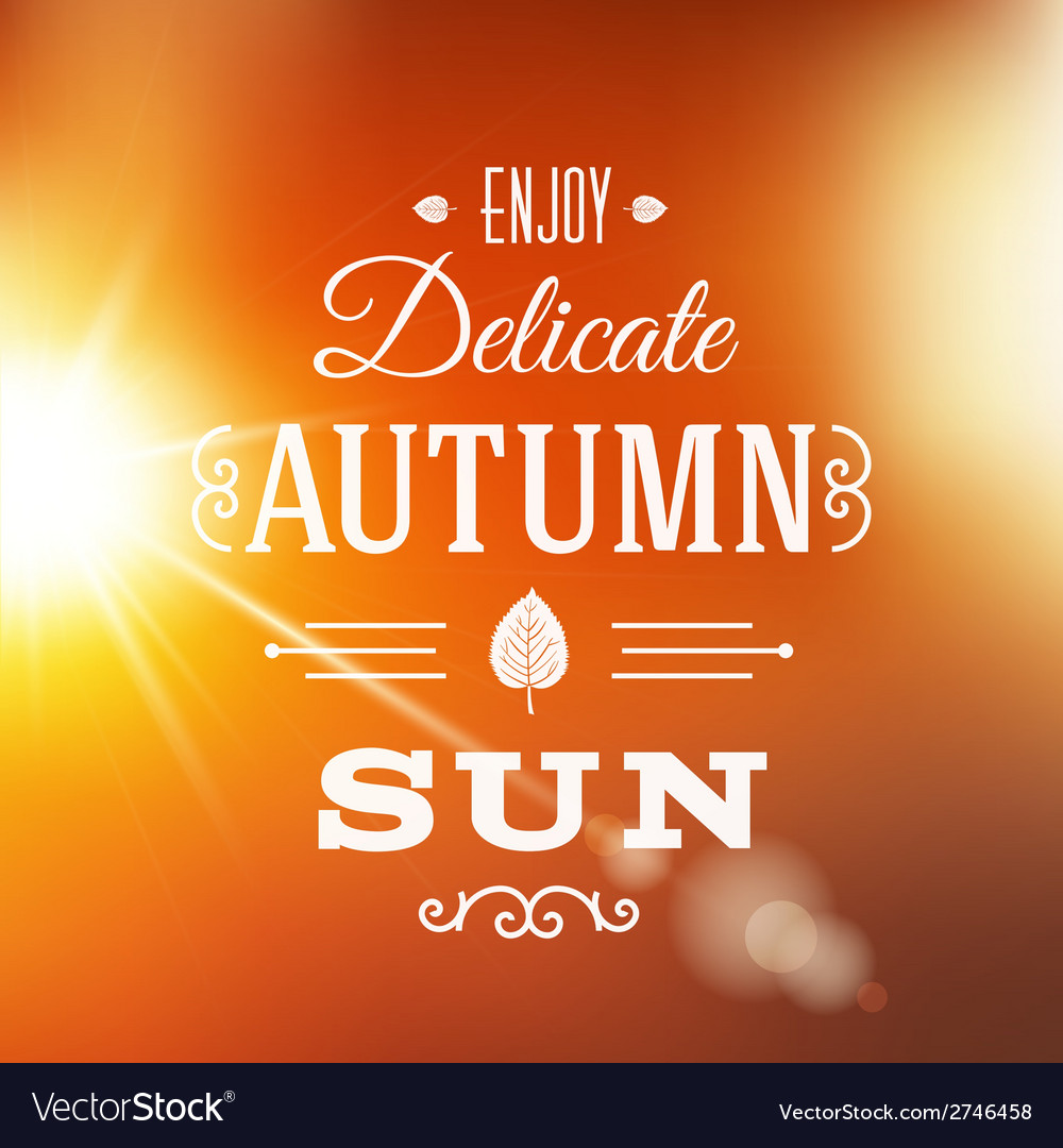 Delicate autumn sun abstract background vector | Price: 1 Credit (USD $1)