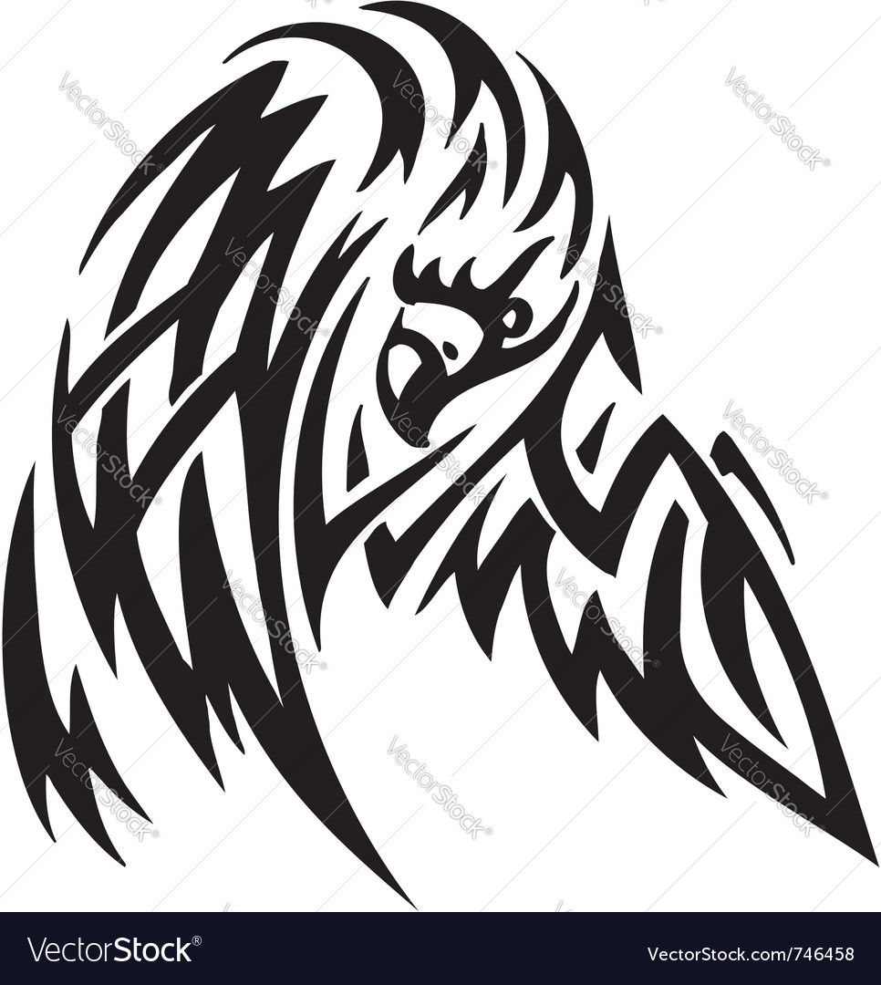 Eagle in tribal style - vector | Price: 1 Credit (USD $1)