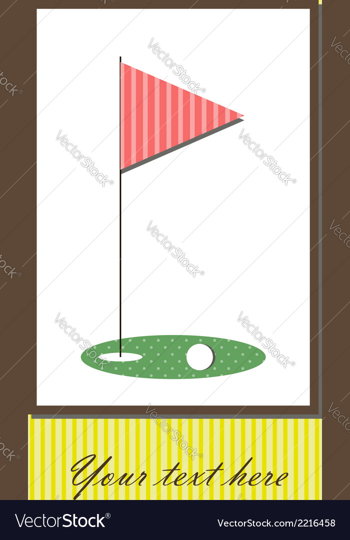 Golf card vector | Price: 1 Credit (USD $1)