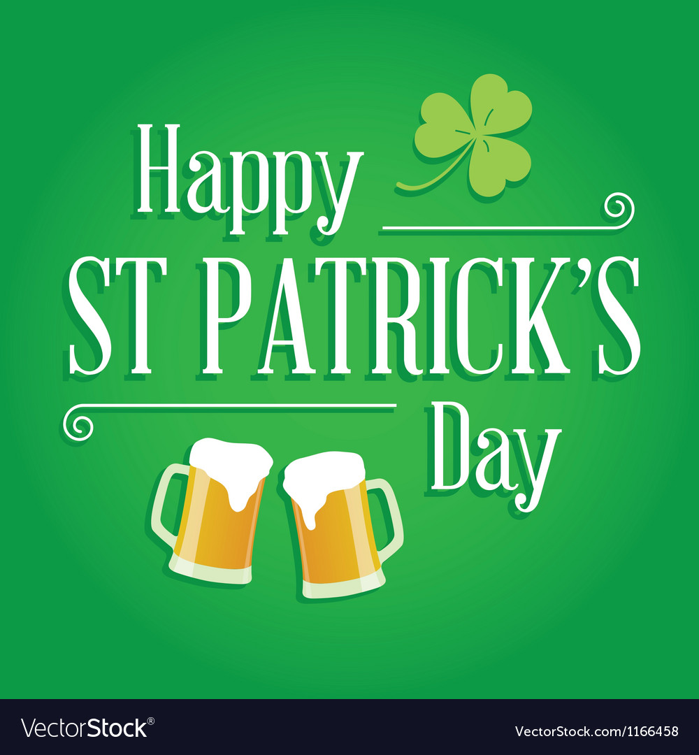 Happy st patricks day card design elements vector | Price: 1 Credit (USD $1)