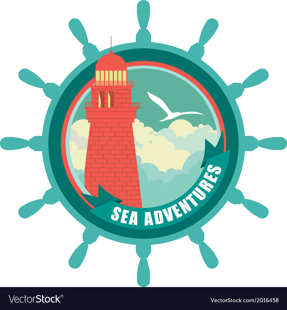 Lighthouse emblem vector | Price: 1 Credit (USD $1)
