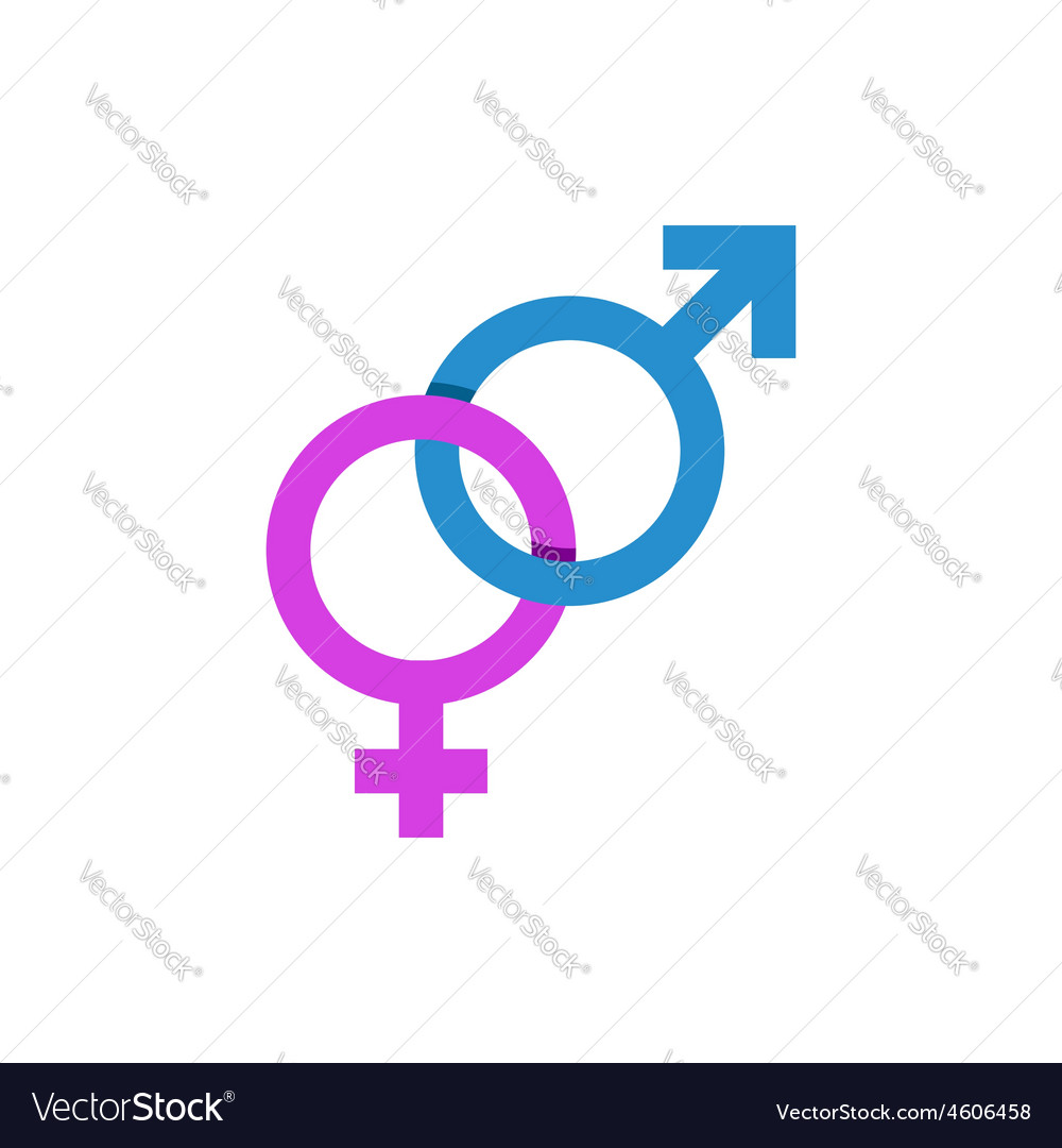 Mars and venus signs male and female symbol vector   Price: 1 Credit (USD $1)