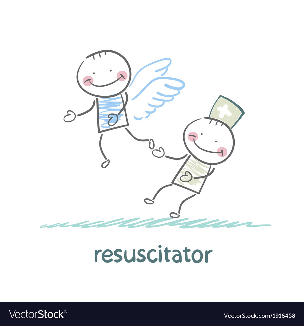 Resuscitator keeps flying away into the sky vector | Price: 1 Credit (USD $1)