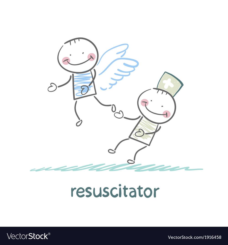 Resuscitator keeps flying away into the sky vector   Price: 1 Credit (USD $1)