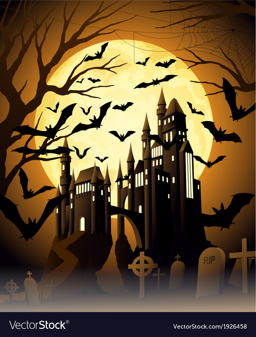Spooky halloween night vector | Price: 1 Credit (USD $1)