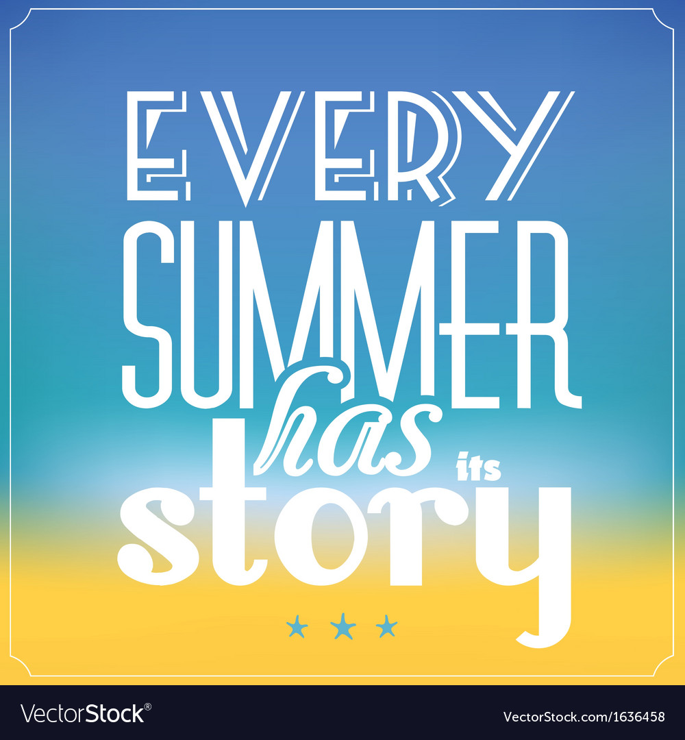 Summer typographic abstract background vector | Price: 1 Credit (USD $1)