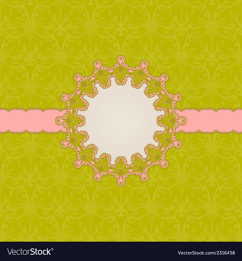 Template frame design for greeting card vector   Price: 1 Credit (USD $1)