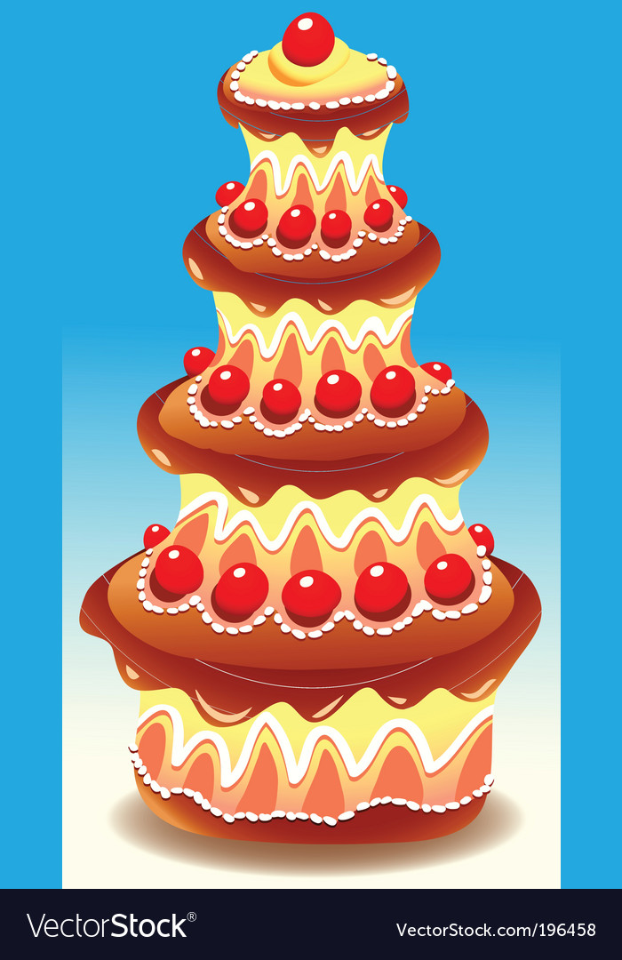 Tiered cake vector | Price: 1 Credit (USD $1)