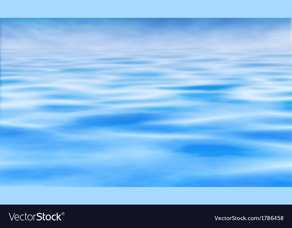 Water horizon vector | Price: 1 Credit (USD $1)