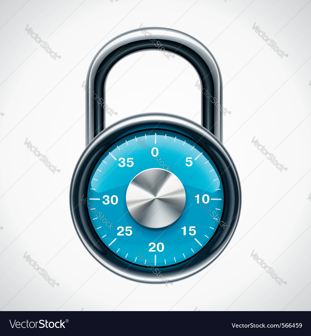 Combination padlock vector | Price: 1 Credit (USD $1)