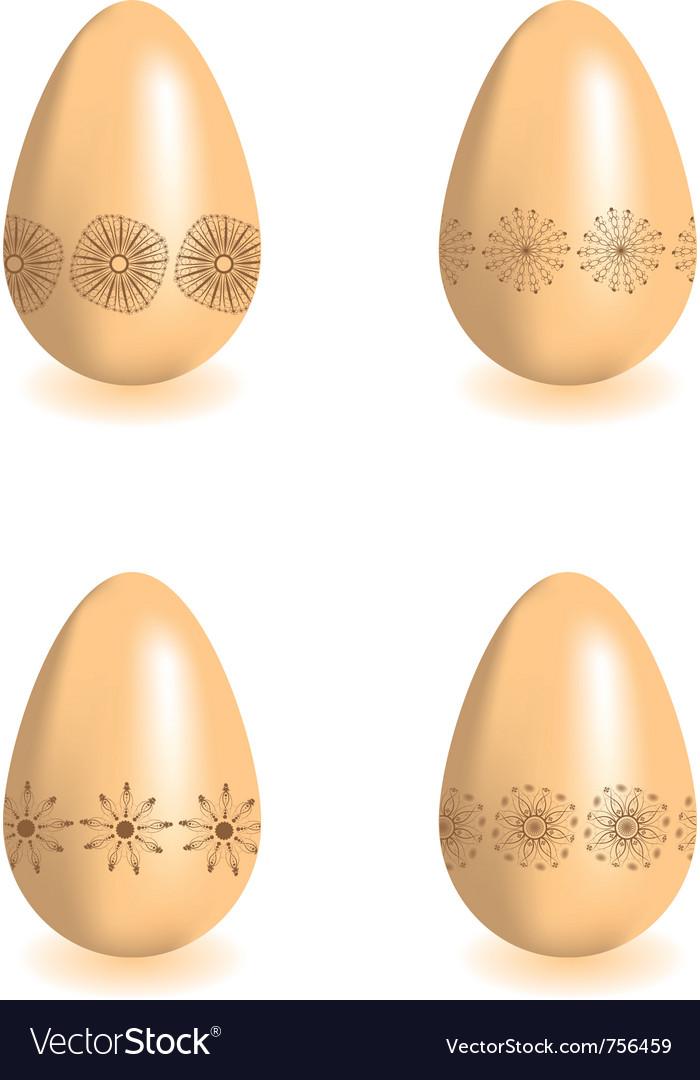 Decorative easter eggs vector | Price: 1 Credit (USD $1)