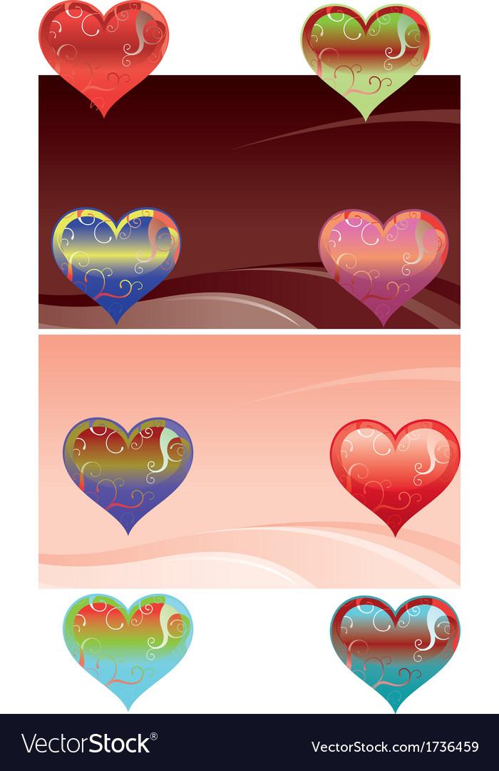 Hearts set vector | Price: 1 Credit (USD $1)