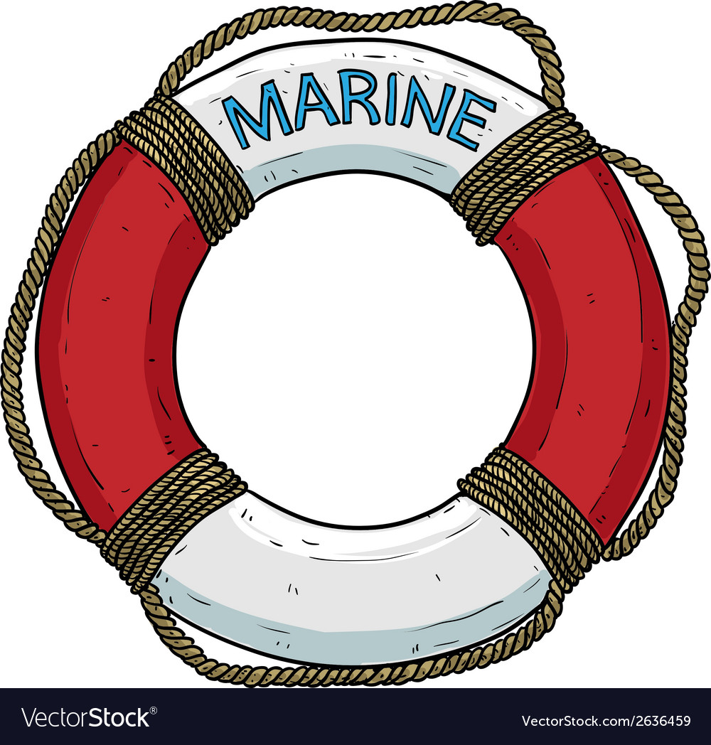 Marine theme lifebuoy vector | Price: 1 Credit (USD $1)