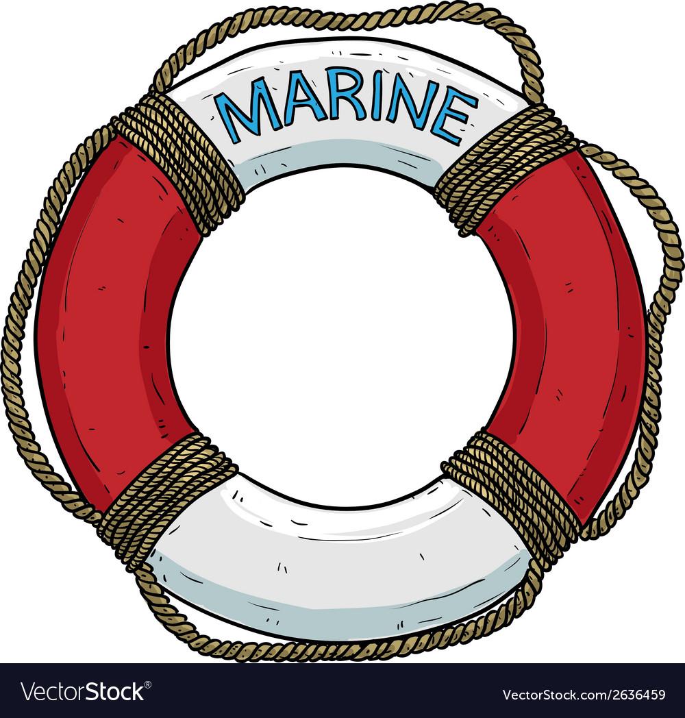 Marine theme lifebuoy vector | Price: 1 Credit (USD $1)