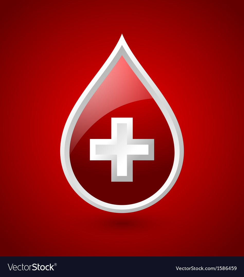 Red blood medical icon vector | Price: 1 Credit (USD $1)