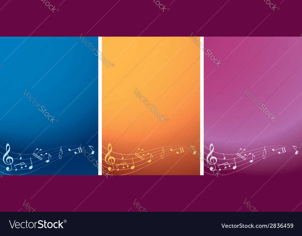 Set - music backgrounds with notes vector | Price: 1 Credit (USD $1)