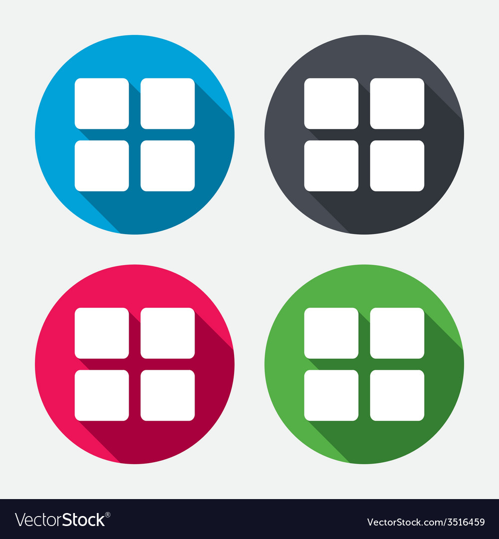 Thumbnails icon gallery view option symbol vector | Price: 1 Credit (USD $1)