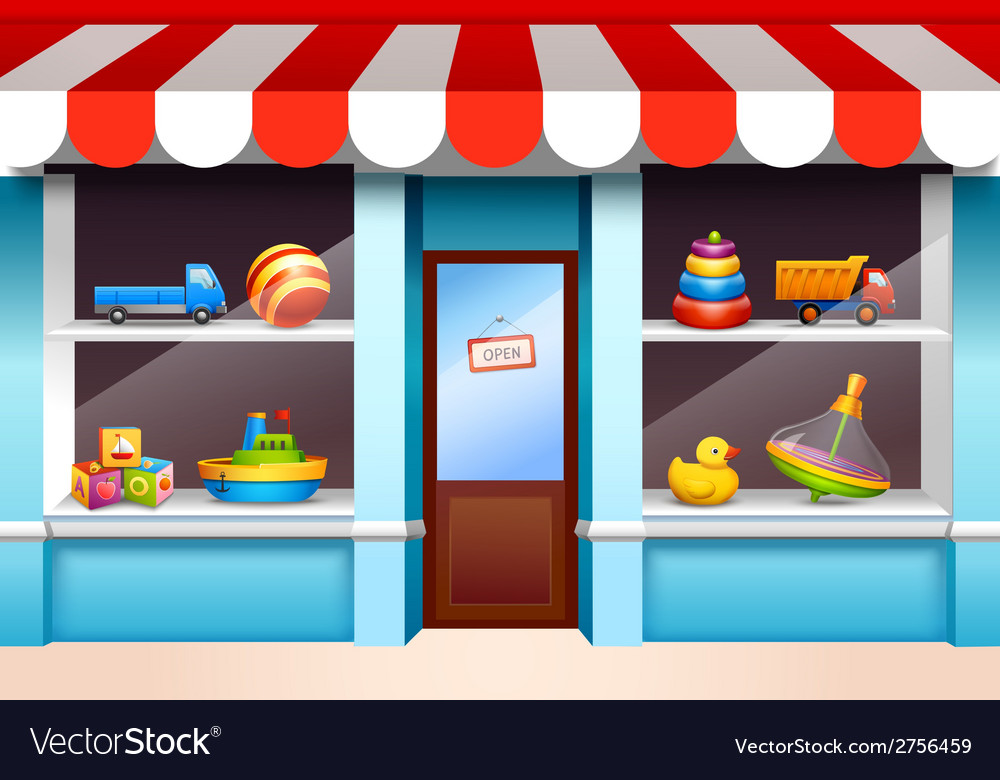 Toys shop window vector | Price: 1 Credit (USD $1)