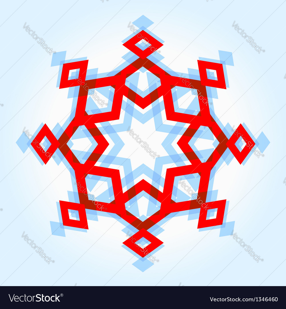 Abstract geometric snowflake vector | Price:  Credit (USD $)