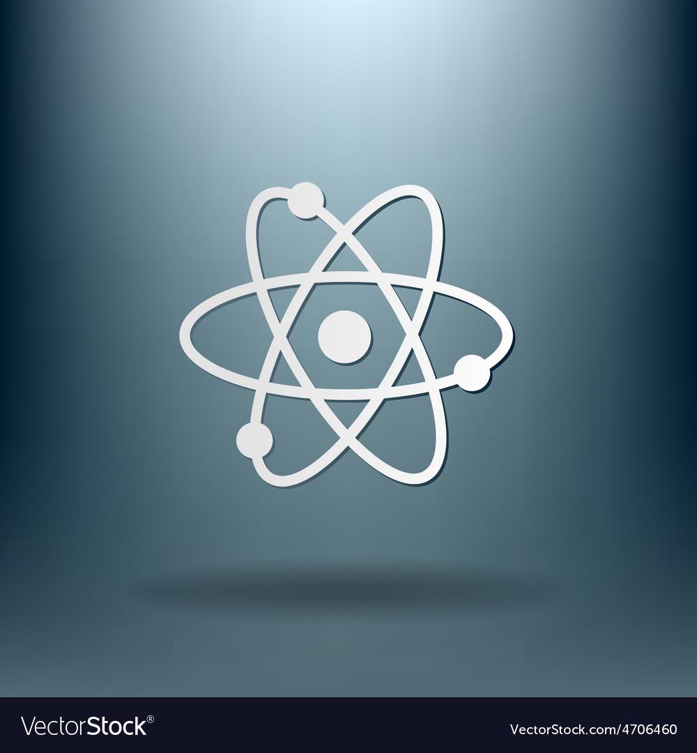 Atom molecule symbol icon of physics or chemistry vector | Price: 1 Credit (USD $1)