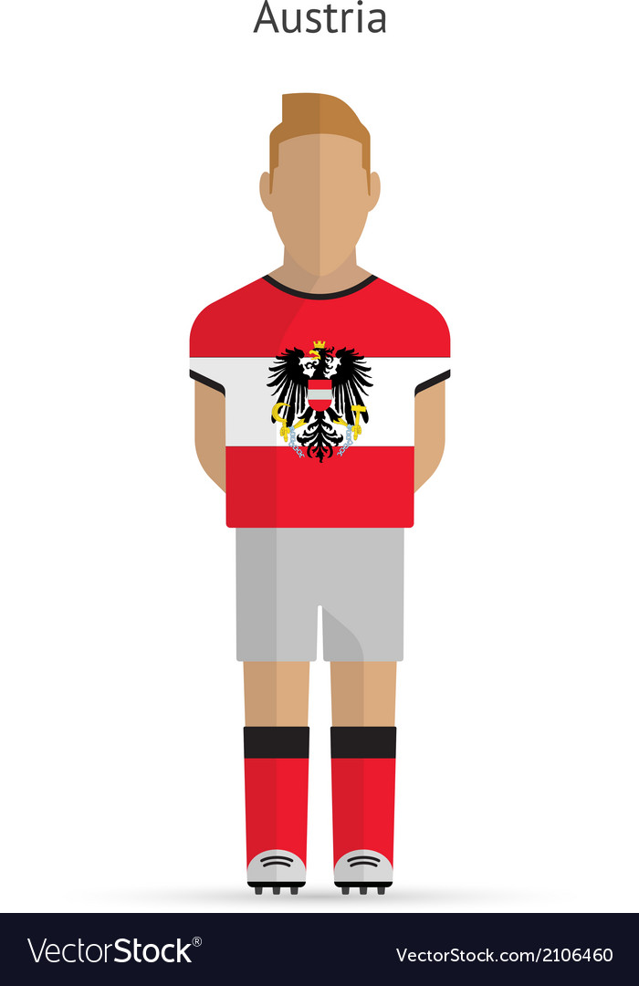 Austria football player soccer uniform vector | Price: 1 Credit (USD $1)