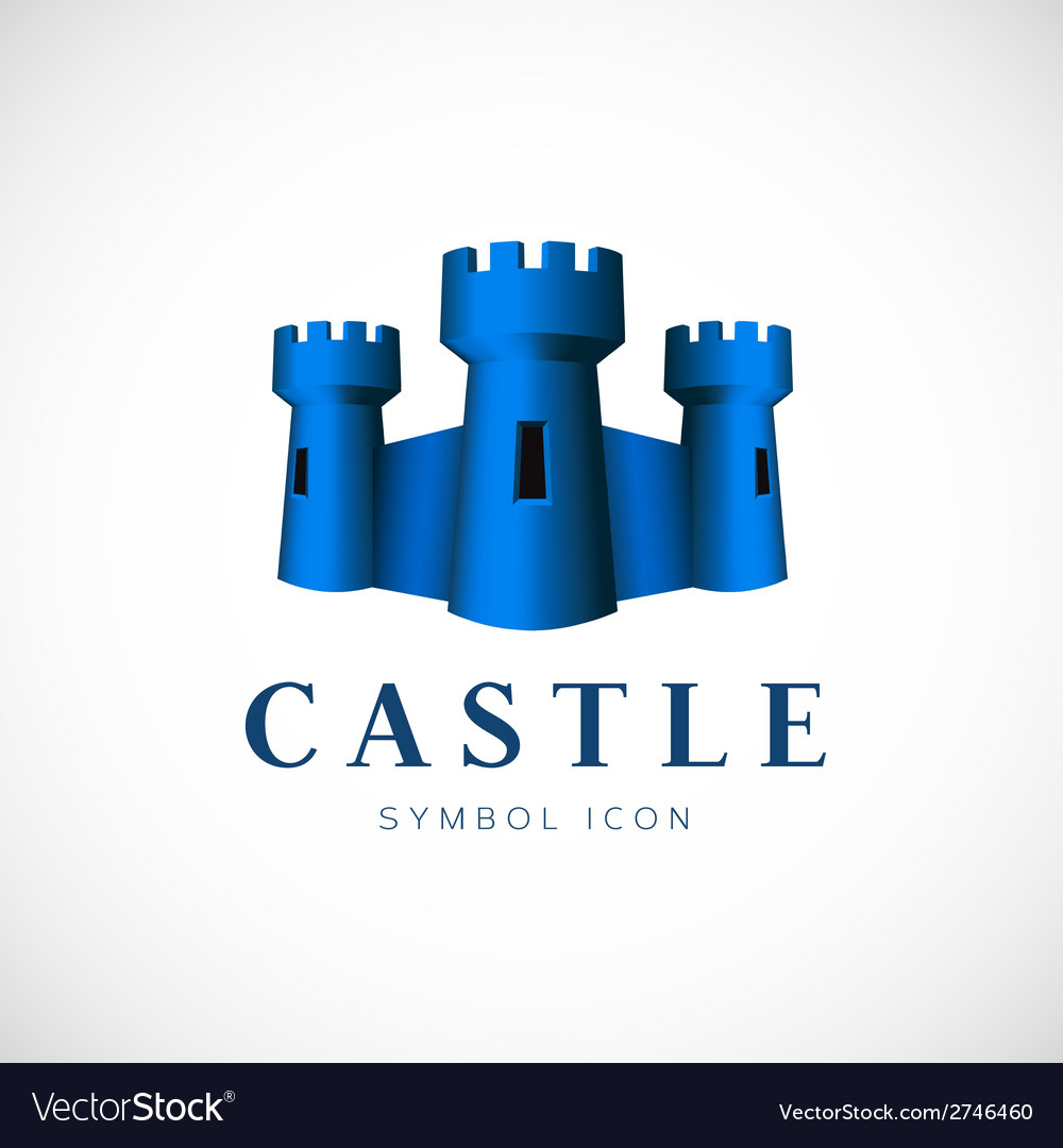 Castle towers concept symbol icon or logo template vector | Price: 1 Credit (USD $1)