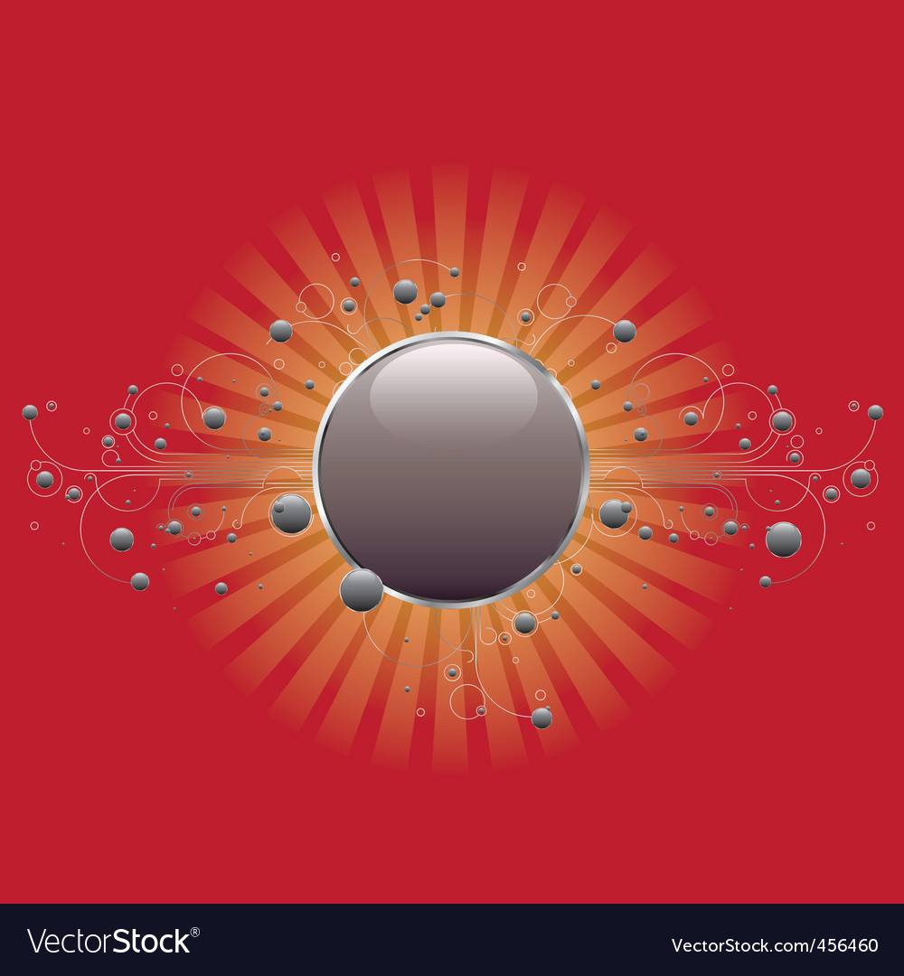 Circle shield on red vector | Price: 1 Credit (USD $1)