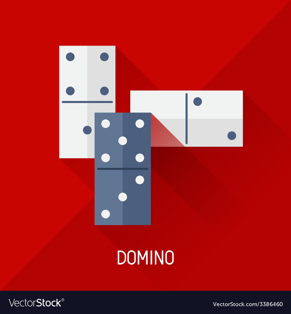 Game with domino in flat design style vector | Price: 1 Credit (USD $1)