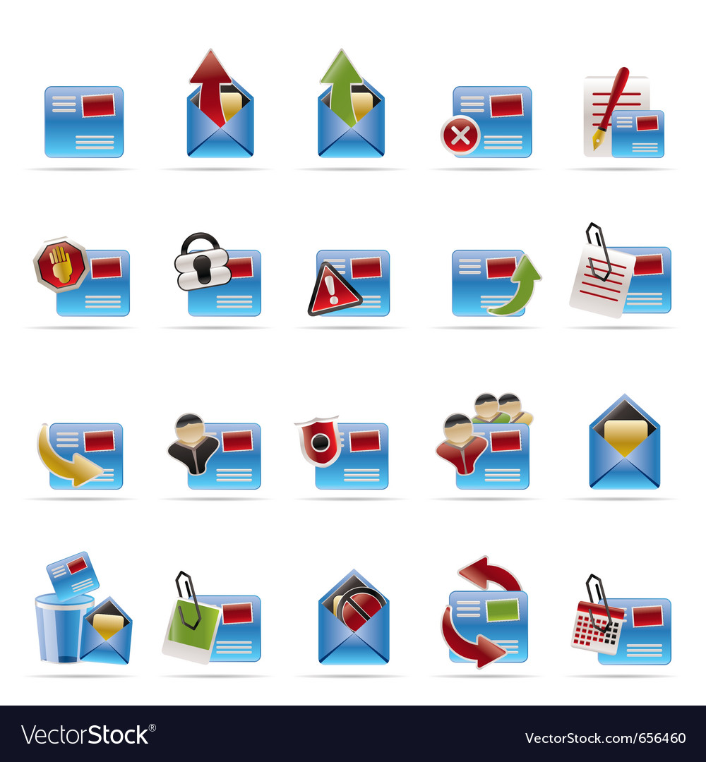 Mail and letter vector | Price: 1 Credit (USD $1)