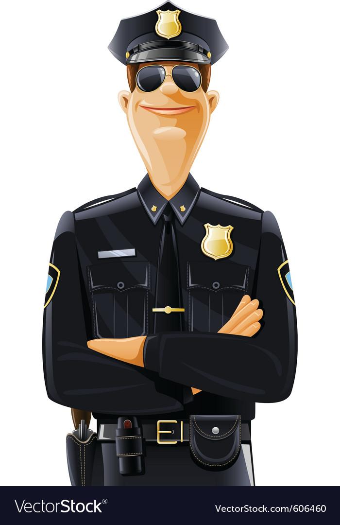Policeman in uniform vector | Price: 5 Credit (USD $5)
