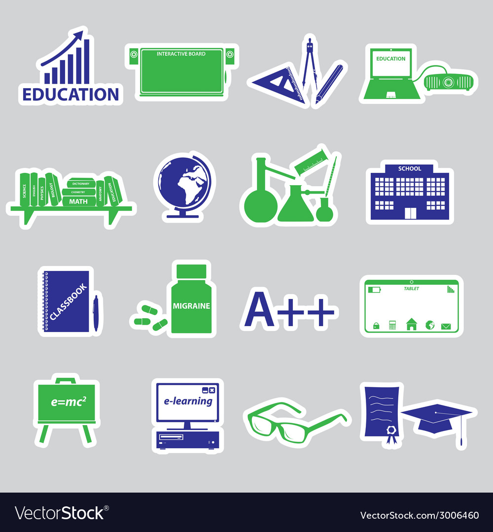 Teacher profession and teaching stickers eps10 vector | Price: 1 Credit (USD $1)