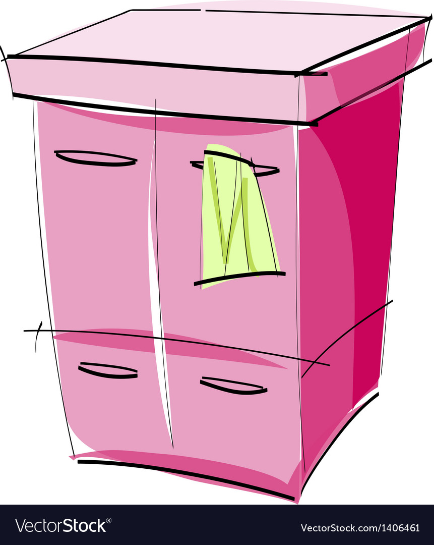 A chest of drawers vector | Price: 1 Credit (USD $1)