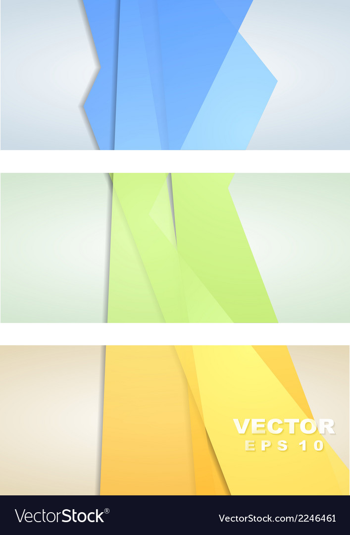 Abstract corporate banners vector | Price: 1 Credit (USD $1)