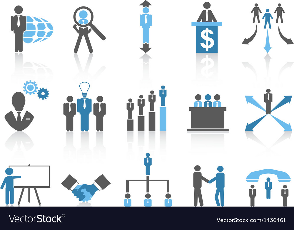Business and management icons blue series vector | Price: 1 Credit (USD $1)