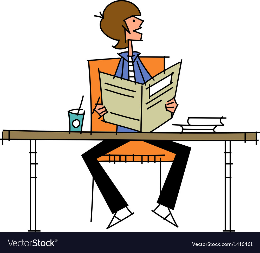 Close-up of boy sitting on chair vector | Price: 1 Credit (USD $1)