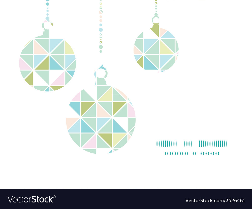 Colorful pastel triangle texture christmas vector | Price: 1 Credit (USD $1)