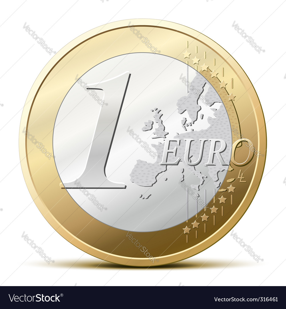 Euro coin vector | Price: 1 Credit (USD $1)