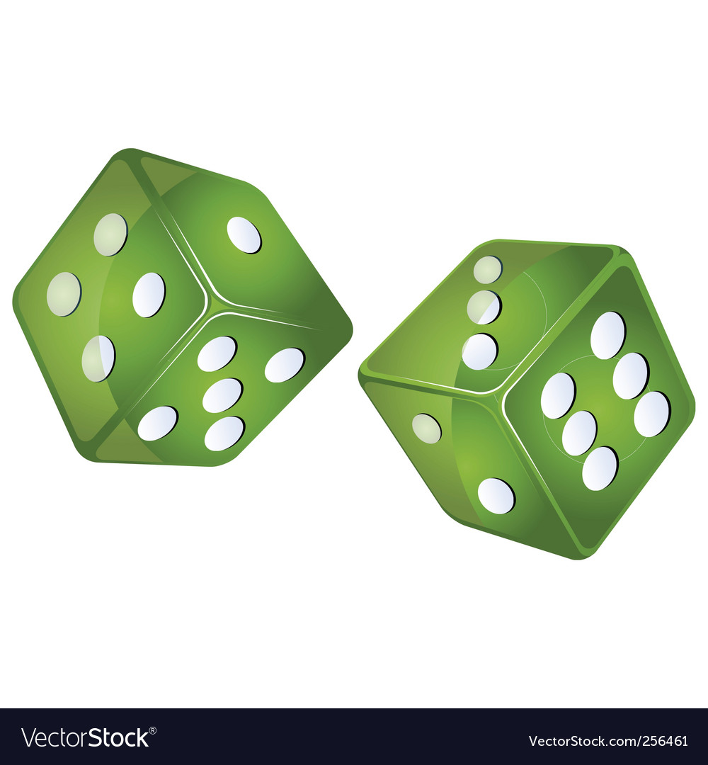 Green dices vector | Price: 1 Credit (USD $1)