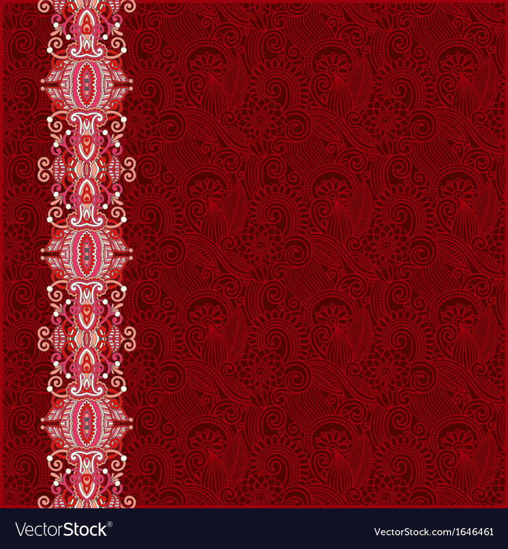 Ornate floral background with ornament stripe vector   Price: 1 Credit (USD $1)