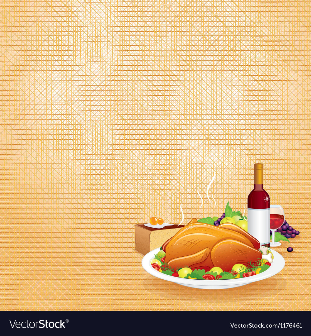 Thanksgiving dinner vector | Price: 3 Credit (USD $3)