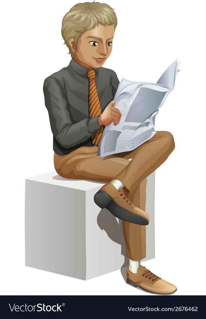 A businessman reading vector | Price: 3 Credit (USD $3)